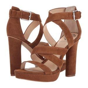 Vince Camuto 'Catyna' brown suede platform heels